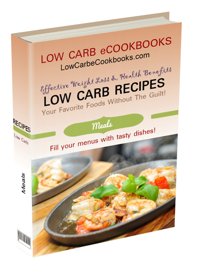 Includes low carb meal plan, low carb meal ideas, low carb pasta, low carb chili, low carb casseroles and more!