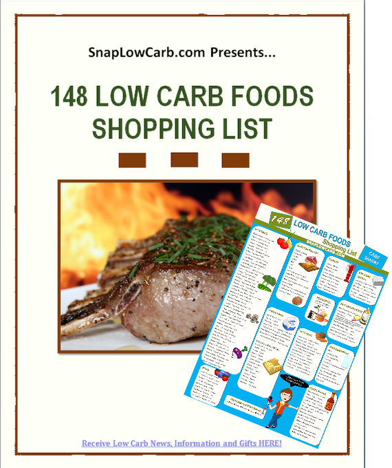 148 Low Carb Foods Shopping List