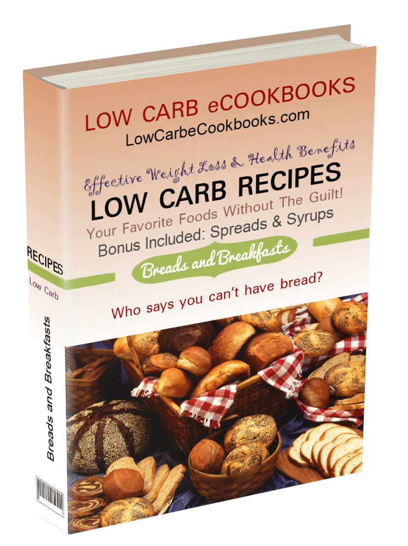 Includes low carb bread recipes, low carb muffins, low carb cereal, low carb pancakes, low carb breakfast ideas and more!