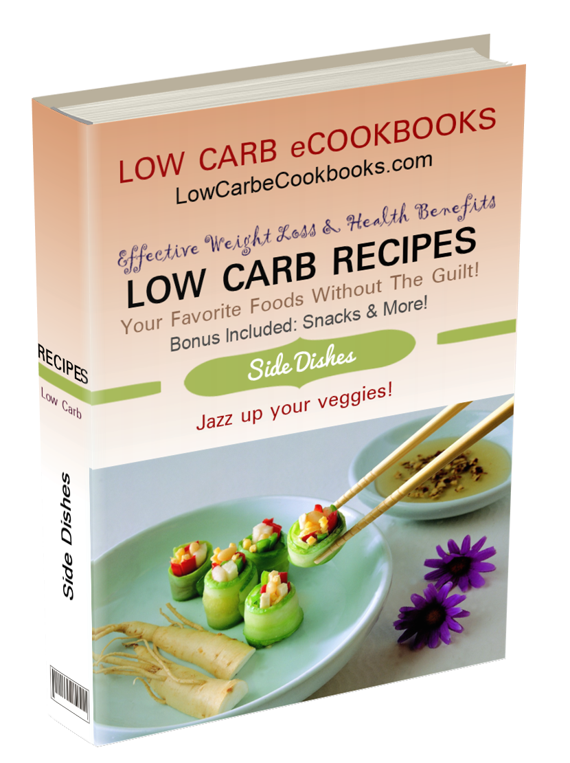 Includes low carb vegetables, low carb snacks, low carb chips, low carb soup, low carb vegetarian recipes and more!