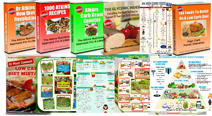 Low Carb eCookbooks Bonus